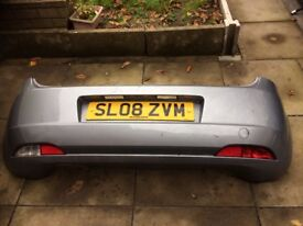 FIAT GRANDE PUNTO COMPLETE REAR BUMPER IN GREY PAINT CODE 595/A WITH LIGHTS 2006-2010