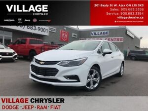 2017 Chevrolet Cruze Premier|Leather|Remote|Backup Cam|Heated Se