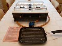 FLAVEL Vanessa Hotplate, white, Suitable for Butane Gas Only