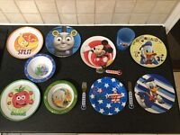 Mixed Melamine Children's Plates, Bowls & Cup + Disney Mickey Mouse Dinner Set