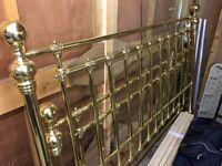 Luxury King Size Brass Bed Frame / Vintage, Original,
