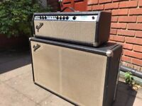 70s Silverface Bassman 100 with matching 60s Fender 2x12 fitted with Jensen speakers
