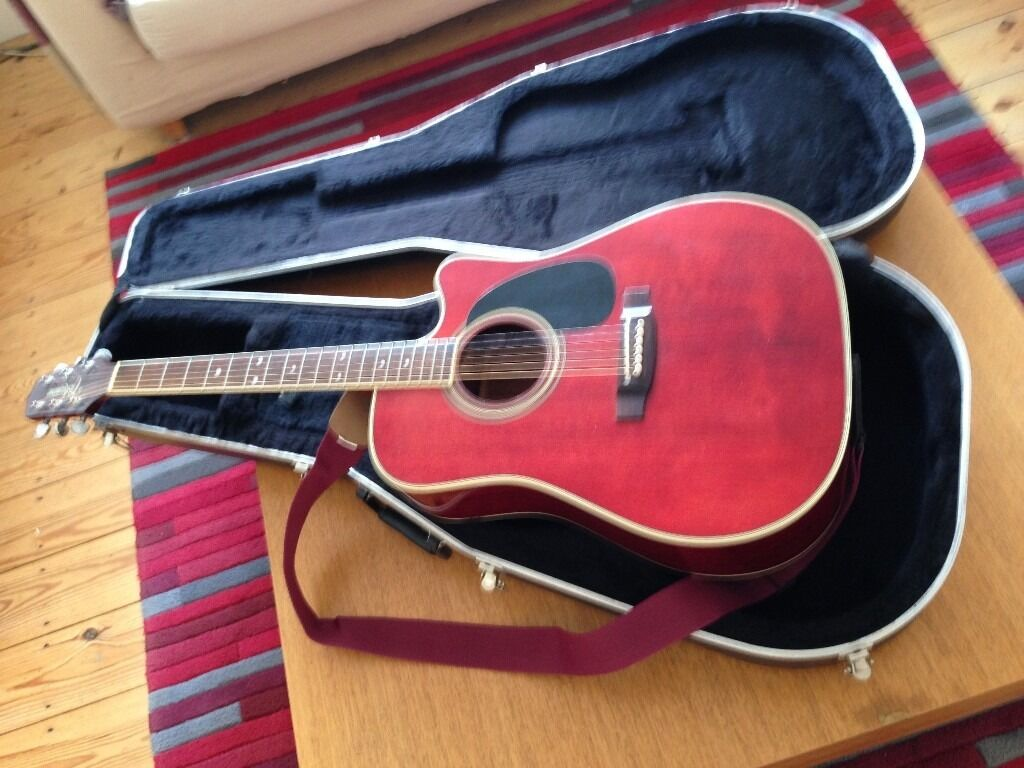 Takamine Acoustic Electric Guitar In Case
