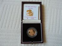 1990 Queen Elizabeth II Proof Gold Full Sovereign Coin
