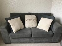 Excellent condition DFS 2 seaters grey fabric sofa.