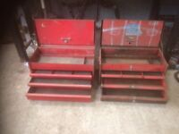 2 old snap on tool boxes