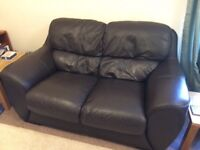 FREE 2 Seater Brown Leather Sofa / Couch