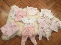 Baby girl clothing bundle, up to 3 months