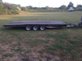 Brian James 3 axle Trailer 2.1m wide by 5m long 3500kg total.