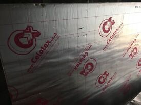 Celotex Insulation boards x 2 sheets Unused