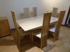 Marble Dining Table and Chairs