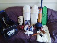 Cricket eauipment full set £100