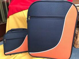 Orange & Navy Weekend Case and Vanity Bag