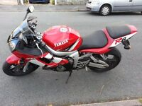 Yamaha R6 03 last of the carb model good condition for age