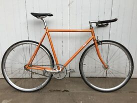 Fuji Feather Fixie/Single Speed, 58cm, Orange, Hardly Used, Nitto Bars and Brooks Leather Bar Tape