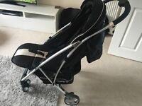 MyBabiie lightweight black and cream pushchair