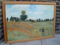 FREE DELIVERY Poppy Field Near Argenteuill Claude Monet Framed Print 9