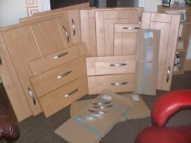 Shaker Wild Birch Kitchen doors and Drawer Fronts (AS NEW)