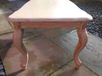 Solid wood coffee table, Refurbished
