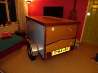NEW WOODEN CAMPING BOX TRAILER