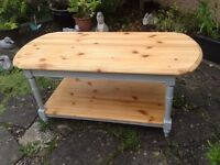 pine coffee table upcycled annie sloan