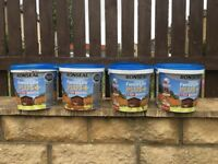 Ronseal fence life +, 4 buckets in medium oak,5 litre each,take the lot at only £35