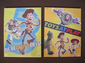 Two Toy Story canvases, brand new in wrapping