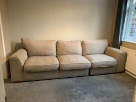 Free Cream 3 seater sofa if you can pick up before 12pm Saturday 31st