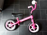 Girls Chicco Balance Bike