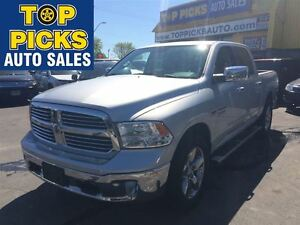 2014 Ram 1500 BIG HORN CREW CAB, CHROME 20'S, DUAL EXHAUST, HEMI