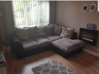 Black and grey corner sofa brilliant condition comes from a pet free and smoke free home