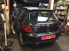 Peugeot 307 Door Bumper Wing Seats Gearbox Dashboard Alloys Interior & more. Complete car to be sold