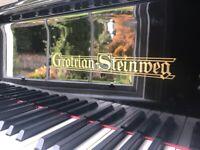 Grotrian Steinweg 160 Baby Grand Piano - Restored by Steinway London - Black