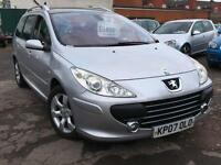 Peugeot 307 Estate 1.6 DIESEL + FULL PEUGEOT SERVICE HISTORY + APRIL 2017 MOT + SUPERB CAR