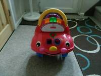 Fisher price sit on car and walker