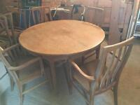 Nathan dining table and 4 chairs (inc 2 carvers)