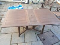 Large folding table and 6 chairs