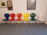6 x Danish Mid Century Retro Stacking Chairs by Phoenix