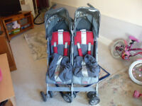 Maclaren Twin Techno Pushchair (suitable from birth)