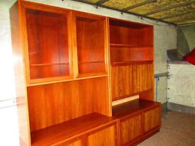 wall units x 2 flamed oak 6ft high by 4ft long x2, cost £500 new