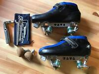 UK 8 Bont Hybrid Roller Derby setup for sale