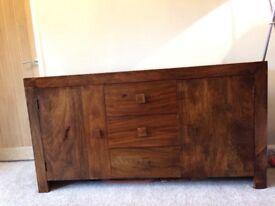 Sheesham Indian wood sideboard
