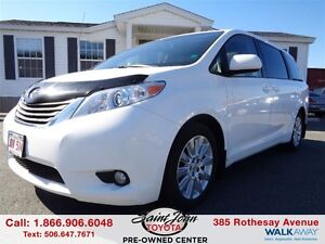 2012 Toyota Sienna XLE 7  with Leather $248.62 BI WEEKLY!!!
