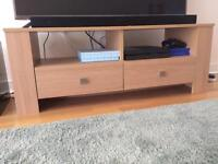 Oak effect TV stand / entertainment unit
