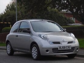 Nissan Micra 1.2 16v Visia 3dr£1,199 p/x welcome 1 LADY OWNER,LONG MOT,LOW TAX