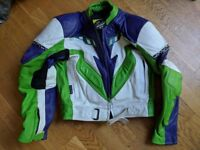 2 Piece MQP aces motorcycle leather suit size 48EU + Free Pair of SIDI boots