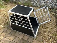 Aluminium Car Dog Crate - Large. Used 3 times!