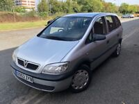 2004 VAUXHALL ZAFIRA 1.6L PETROL 7 SEATER EXCELLENT CONDITION FULL SERVICE HISTORY 2 KEYS AND MOT