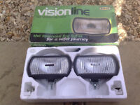 ring visionline fog lights unused in original box ideal classic restoration ford vauxhall etc etc