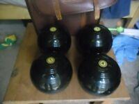 Set Of 4 VITALITE Bowls Bowling Balls 5 1/16 Bias 3